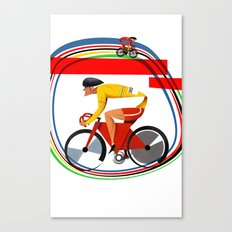 track racer cyclist Canvas Print