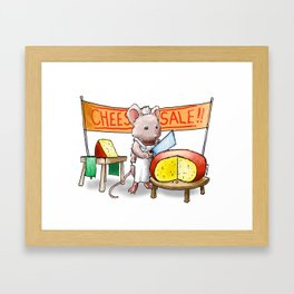 The Cheese Monger Framed Art Print