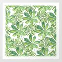 Tropical Branches Pattern 01 by serigraphonart