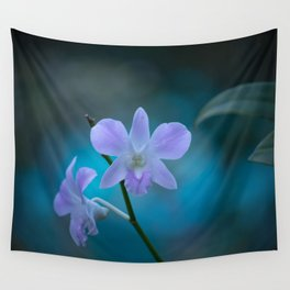 Purple Orchids Wall Tapestry