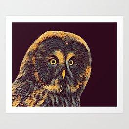 THE OWL 001 - The Dark Animal Series Art Print