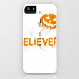 great pumpkin believer halloween enjoyable graphic zip tee iPhone Case