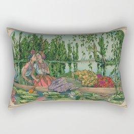 Trajinera del Amor Rectangular Pillow