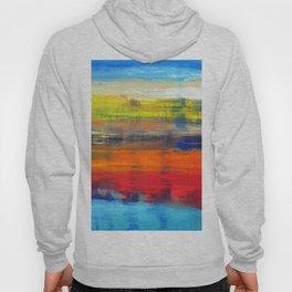 Horizon Blue Orange Red Abstract Art Hoody