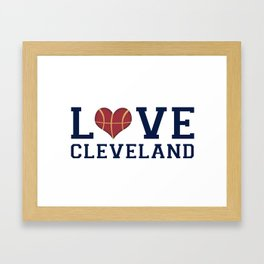 Love Cavs Framed Art Print