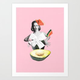 Roly-Poly Avocado Art Print