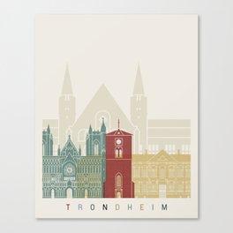 Trondheim skyline poster Canvas Print