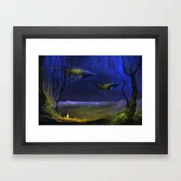 In The Light You Follow Me Framed Art Print