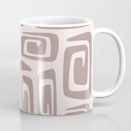Mid Century Modern Cosmic Abstract 613 Beige Coffee Mug
