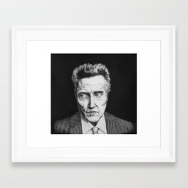 Portrait of Christopher Walken Framed Art Print
