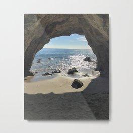 Malibu Cave Metal Print