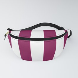Rich Plum Pie Pudding and White Cabana Stripes Fanny Pack