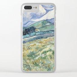 Vincent Van Gogh - Landscape from Saint-Remy 1889 Clear iPhone Case