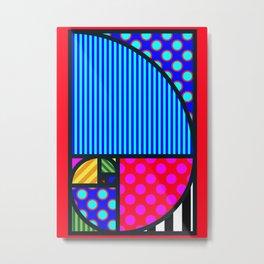 Fibo PoP-Art Metal Print