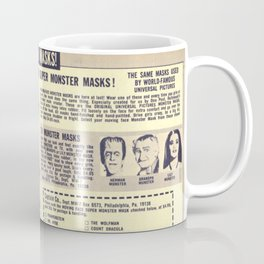 Monster Masks Coffee Mug