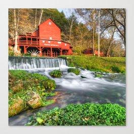 Hodgson Water Mill - Missouri - Square Format Canvas Print