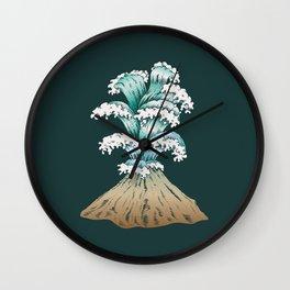 Wave Eruption Wall Clock