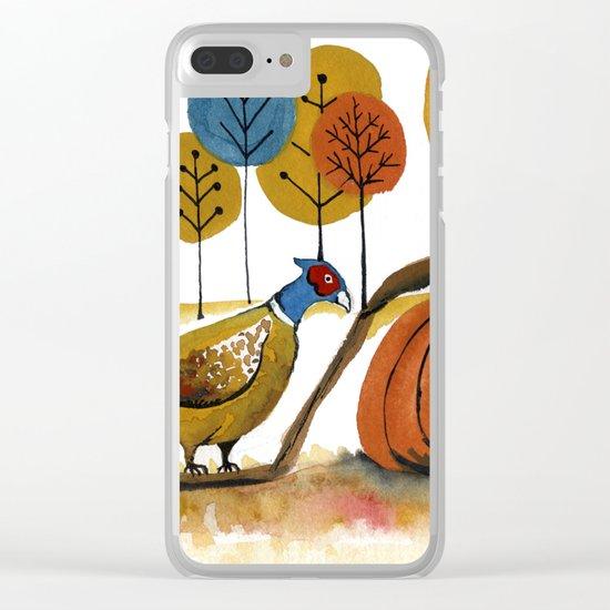 Fall Pheasant Clear iPhone Case
