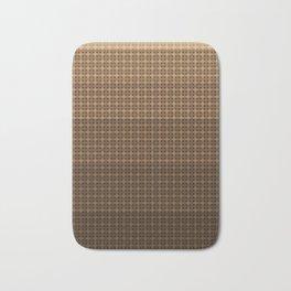 Brown plaid Bath Mat