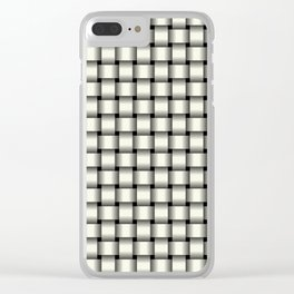 Small Ivory Weave Clear iPhone Case