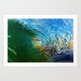EMERALD BAY Art Print