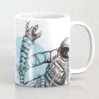 astronaut Mugs featuring Astronaut by Ren Davis