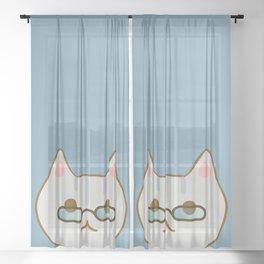 Mewta-kun Sheer Curtain