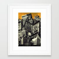 cityscape Framed Art Prints featuring Cityscape by Chris Lord