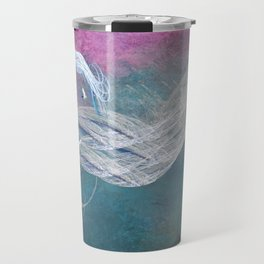 Surreal birds fly in a stormy sky Travel Mug