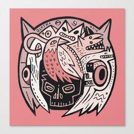 Bubble Head - pink Canvas Print
