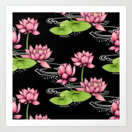 Floating Lotus Art Print