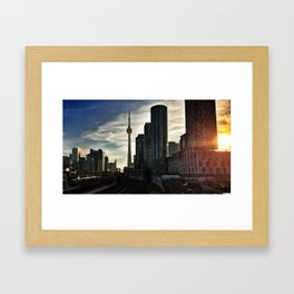 Toronto Skyline from the Bathurst Bridge Framed Art Print
