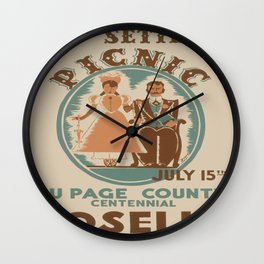Vintage poster - Roselle Wall Clock
