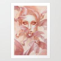 carmilla Art Prints featuring Carmilla by Lauren K Cannon