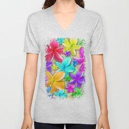 Plumerias Flowers Dream Unisex V-Neck