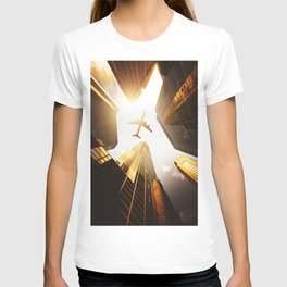 airplane in nyc T-shirt