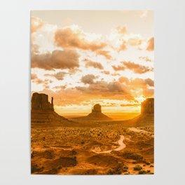 Southwest Wanderlust - Monument Valley Sunrise Nature Photography Poster