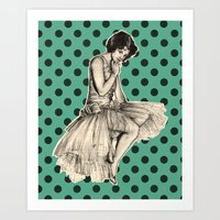 pinup Art Prints featuring Pinup by Jemma Cakebread