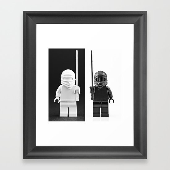 An exercise in Black and White Framed Art Print