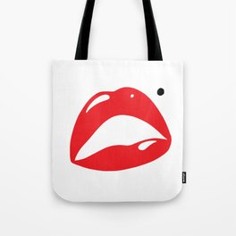 Sexy Lipstick Lips Kissing With A Beauty Spot Tote Bag