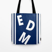edm Tote Bags featuring EDM (simple shapes) by DropBass