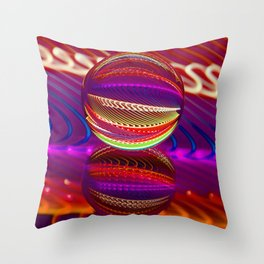 Brilliance in the crystal ball Throw Pillow