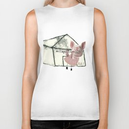 The three little pigs (ANALOG zine) Biker Tank