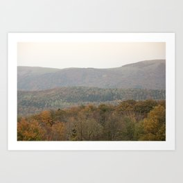 Fall colors in the French mountains Art Print