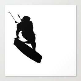 A Kitesurfers Freestyle Silhouette Canvas Print