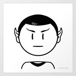 Star Trek: Mr. Spock Art Print