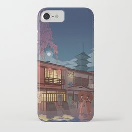 Kyoto at night iPhone Case