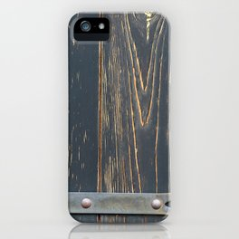 Stained plank of shutter backgrounds iPhone Case