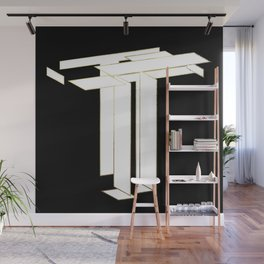 Beautiful Armor Letter T Wall Mural