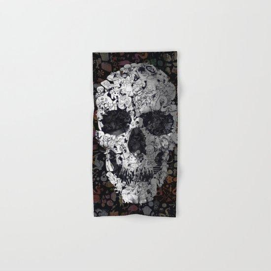 Doodle Skull Hand & Bath Towel